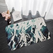 <b>Shanghaojupin</b> Wave Flower <b>Flannel Floor</b> Mat | Rugs on carpet ...