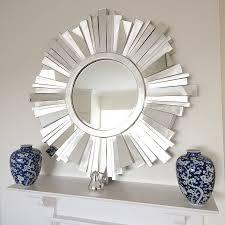 living room mirrors grey design red  living room gorgeous decorative round sunburst mirror decorating idea