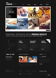 advertising agency responsive website template 43870