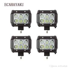 <b>ECAHAYAKU 4Pcs</b> Spot Beam 4 Inch 12V Led work Light Bar