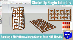 Bending a <b>3D Pattern</b> Along a Face with Flowify - SketchUp ...