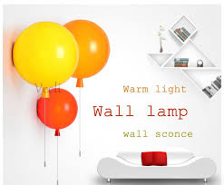 Colorful Balloon <b>Wall</b> Lamp, 20cm modern fashion <b>Acrylic bedroom</b> ...