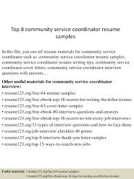 Cover Letter For Community Service Coordinator   Cover Letter     lbartman com