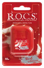 <b>Зубная нить</b> Red Edition 40м (мята) R.O.C.S. купить, цена на ...