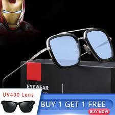 HGE H The Avengers 3 <b>iron Man</b> Sunglasses Men <b>Fashion Square</b> ...