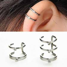 2018 <b>New 1PC Fashion</b> 2 Or 3 Row Silver U Shape Ear Cuff Wrap ...