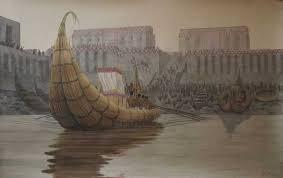 Файл:Реконструкця <b>лодки у причала</b> в Эриду на которых плавали ...