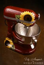 stand kitchen dsc: i love this one cb red w yellow sunflowers kitchen aid mixer or you can get a yellow mixer or for that matter any color with sunflowers