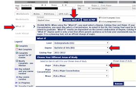navigating the degree works audit worksheet office of the registrar navigate 17