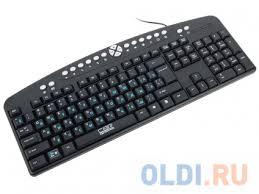 <b>Клавиатура CBR KB 340GM</b> Black USB — купить по лучшей цене ...