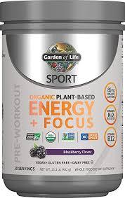 Garden of Life - <b>Sport Organic Plant-Based Energy</b> + Focus ...