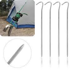 Aluminum Alloy <b>Tent</b> pegs <b>Stake Nails</b> Ground Pin <b>Camping</b> Hiking ...