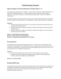good resume for a camp counselor cipanewsletter camp counselor resume getessay biz