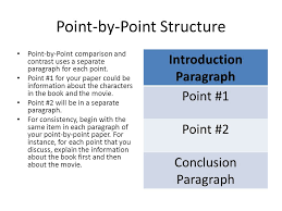 point by point compare and contrast essay  wwwgxartorg compare contrast essays choices for organization transition words point by point structure point by point comparison