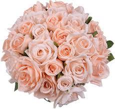 GreenDec 2 Pack <b>Artificial</b> Flowers <b>Rose Bouquet Fake</b> Flowers <b>Silk</b> ...