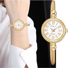 <b>Lvpai Women</b> Small Gold Bangle Bracelet <b>Luxury Watches</b> Stainless ...