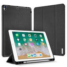 iPad Pro 10.5 Classic <b>PU Cloth</b> Flip Magnetic Smart Kickstand Case ...