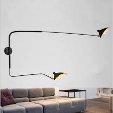 2019 <b>Modern Adjustable Long Swing</b> Arm Wall Lamp Lights For ...
