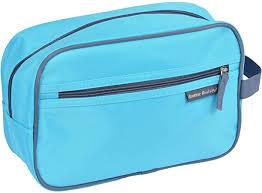 Douceur d 'Intérieur 6asb293bl <b>Toiletry Bag Microfibre</b>, blue ...