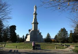 150th anniversary of abraham lincoln s gettysburg address a w reads a memorial at the spot where u s president abraham lincoln delivered his gettysburg address at the gettysburg national cemetery in