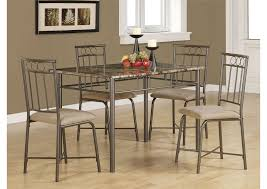 Black Casual Grey Metal <b>Five</b>-<b>Piece Dining</b> Set Five Star Furniture
