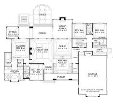 Plan of the Week  The Chesnee     One Story Houses  First    Large one story house plan  big kitchen   walk in pantry  screened porch