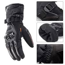 HUZHAO Winter <b>Motorcycle</b> Gloves Waterproof and Warm Four ...