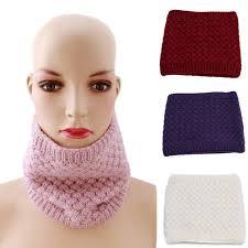 Unisex Winter <b>Thickened Wool Collar Scarves</b> Women Children ...