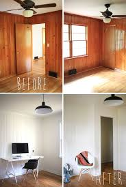bedroom paneling ideas: idk i like the wood paneling too but maybe darker if i had a house full of paneling id leave one room natural and paint the rest this crisp white