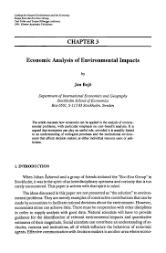 economic analysis of environmental impacts springer linking the natural environment and the economy essays from the eco eco group