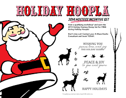 holiday hoopla open house stamped blessings holiday hoopla hostess set flyer