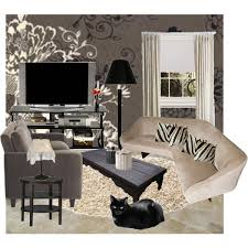 a home decor collage from january 2011 featuring 3 seater sofa tiered end table and black beige living room