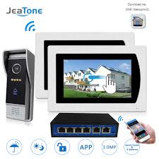 JeaTone <b>7</b> inch <b>720P WiFi</b> IP video doorphone for villa 1 to 2 Home ...