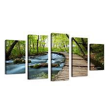 BIL-YOPIN Large Giclee Framed Canvas Printing 5 ... - Amazon.com