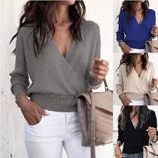 <b>ZOGAA 2019 Hot Summer</b> Women T-shirt Short Sleeve Deep V ...