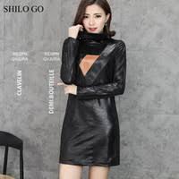Long Sleeve Leather <b>Pencil</b> Dress NZ