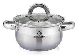 <b>Кастрюля Eurostek</b> ES-1052, Нержавеющая сталь - купить по ...