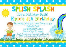 printable birthday party invitations summer themed invite pool girls birthday invitation