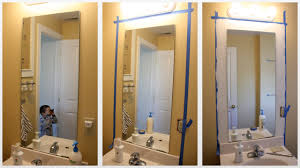 update bathroom mirror: do it yourself framing a bathroom mirror digihome