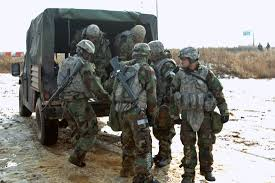 us department of defense photo essay  us and korean soldiers offload a simulated casualty from a truck during medical evacuation training in