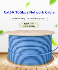 Cat6A Network Cable SFTP Double Shielding 10Gbps High Speed ...