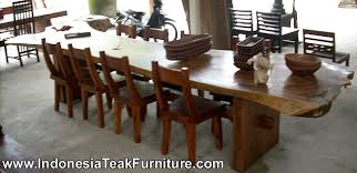 long wood dining table: garden table from bali indonesia dining table
