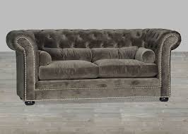 Button Couch Velvet Sofa Chesterfield Style Silver Button Tufted