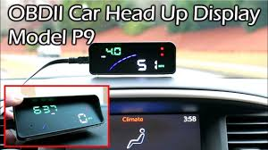 <b>OBDII Head</b> Up Display (<b>HUD</b>) Model P9 Full Review - YouTube