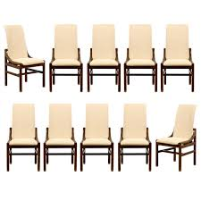 Henredon Dining Room Table Gorgeous Set Of Ten 10 Vintage Henredon Dining Chairs In