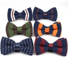 Wholesale- <b>Men</b> Neck Ties Tuxedo <b>Knitted Bowtie Bow Tie</b> Thick ...