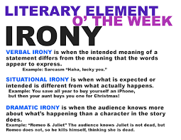 literary terms and don t forget irony
