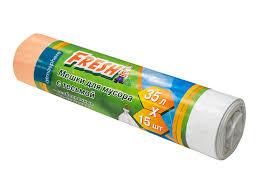<b>мешки для мусора FRESH</b> 35 л, 15 шт, 60х50 см, 19 мкм, с ...