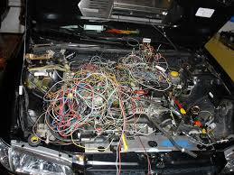sam s car all these wires came from the jdm harness that s only 1 2 of the