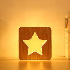 FUMAT <b>Warm Modern</b> Whale Star Board <b>LED</b> Table <b>Lamp</b>